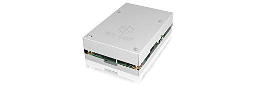 Icy Box IB-RP101 Gehäuse für Raspberry Pi 2 & 3 Model B, Aluminium/Acryl, übereinander schraubbar, Kühlkörper, silber