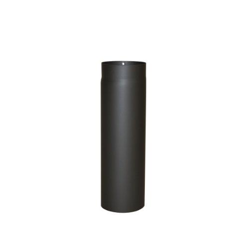 Ofenrohr Senotherm 2 mm Ø 130 mm hitzebeständig lackiert, gerade - Rauchrohr, Kaminrohr schwarz - für Pellettofen und Kamine - Länge: 500 mm