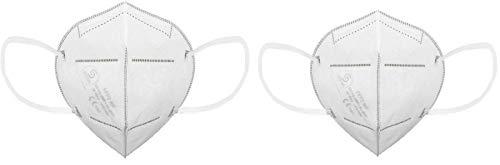 MBS TRADING 2er Pack | FFP2 NR Atemschutz Falt-Maske mit Nasenbügel im wiederverschliessbaren Beutel einzeln verpackt | kein KN95 | Made in Germany