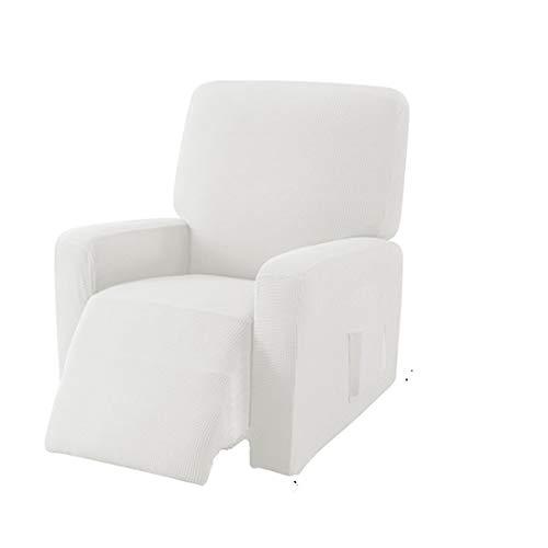 E EBETA Jacquard Sesselbezug, Sesselschoner, Stretchhusse für Relaxsessel Komplett, Elastisch Bezug für Fernsehsessel Liege Sessel (Cremefarbe)