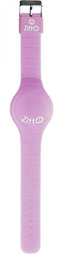 Orologio ZITTO a led con cinturino in silicone Shiny Lilac Lilla Grande