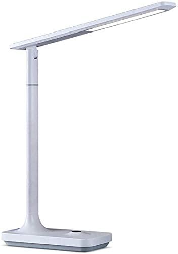 MQJ Lámpara de Mesa Lámpara de Escritorio Led con Lámparas de Escritorio de Puerto de Carga Usb con Brillo de 3 Niveles Ajustable para la Oficina en Casa 4000K Lámpara de Lectura de Luz Blanca Cálida