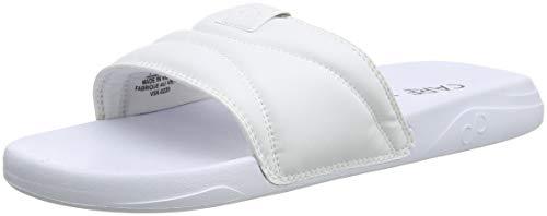 CARE OF by PUMA Slide Flip Flops, Bianco (White-Black), 42 EU