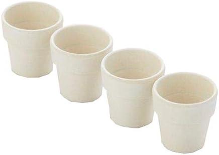 Preisvergleich für ADOMO pv-bam-6097A 'domo Point-Virgule Set von 4Eierbecher Zement grau, Bambus, Fasern, grau
