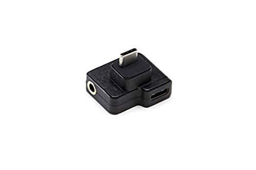 DJI Osmo Action Adaptador Dual CYNOVA USB-C/3.5 mm - Permite el Uso de Micrófonos Externos, Mejora la Calidad del Sonido de los Vídeos, Permite Cargar la Batería y Transmitir Datos - Negro