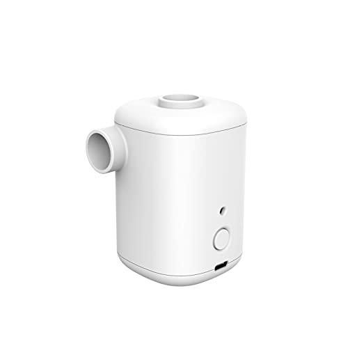 Bomba neumática eléctrica, bomba de aire USB de 15 W, uso doméstico/automóvil, tamaño pequeño para inflado/desinflado rápido con 4 boquillas para sofá, balsa de aire, colchón, anillo de natación