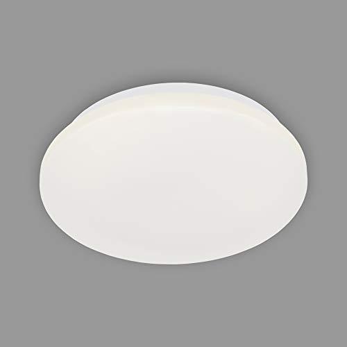 Briloner Leuchten - LED Deckenleuchte, Badleuchte, Badlampe, IP44, 12 Watt, 1.200 Lumen, 4.000 Kelvin, Weiß, Ø 28,8cm 3404-116