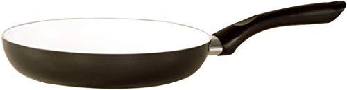 KARL KRÜGER Flach Aluguss Oslo Poêle 28 cm, Revêtement céramique, Noir, 28 cm