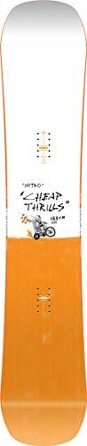 Nitro Herren Cheap TRILLS Wide BRD´21 Snowboards, orange, 155