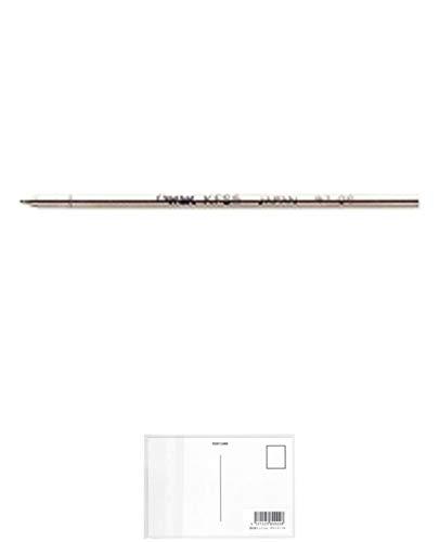 ぺんてる 油性ボールペンリフィル KFS5 黒 KFS5-AD + 画材屋ドットコム ポストカードA