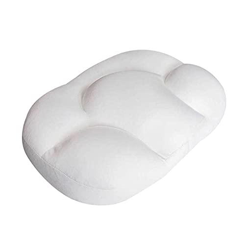 Bingdong Almohada de espuma para dormir en forma de nube, almohada cervical ergonómica para dolor de cuello en la parte posterior