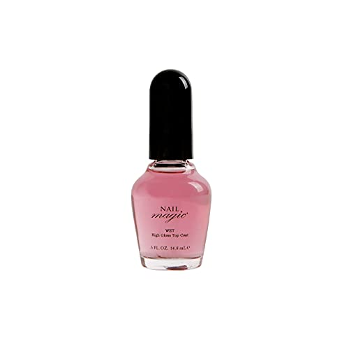Nail Magic - WET, Extreme High-Gloss Top Coat, 0.5 Fluid Ounce - Shiny Top Coat, Strengthening, Conditioning & Hardens Natural Nails, 50 Years of Superior Results