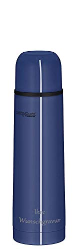 Thermos ThermoCafé by Isolierflasche Everyday (blau, mit Namensgravur, 0,7 L)