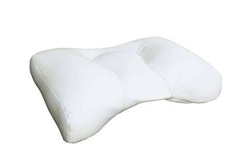 Sobakawa Cloud Pillow with Micro Bead Fill - White - Maximum Air Flow and Comfort While Retaining Shape - Contour Supports Your Neck and Head to Relieve Muscle Tension - Custom Fit Case