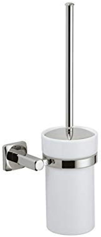 XIAOL Home Toilettenbürste und Halter Kupfer Badezimmer Toilettenbürste Keramik WC
