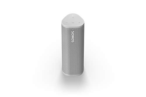 Sonos Roam altavoz portátil, 10 horas de autonomía, Impermeabilización Certificado IP67, Wi-Fi y Bluetooth, Multiroom, Apple AirPlay 2, Tecnología Trueplay, Control por voz y con Sonos App - Blanco