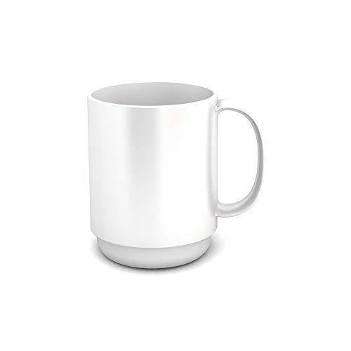 Ornamin Becher mit Henkel 300 ml weiß (Modell 510) / Mehrweg-Becher Kunststoff, Kaffeebecher