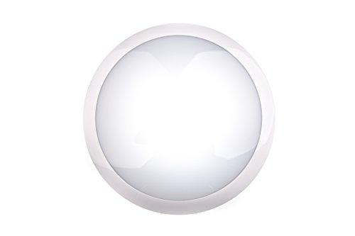 HUBER LED HML 100 HFTC, LED Leuchte mit Bewegungsmelder 360°, weiß, 16 W, 1200 lm, IP65 für den Innen- und Außen-Bereich, Lichtfarbe einstellbar, hochsensibel durch Radar-Technik, geeignet als Flurlampe, Deckenleuchte, Garagenleuchte, Kellerleuchte