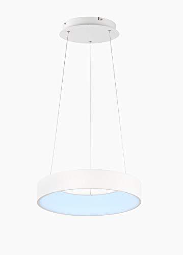 WOFI Cameron lampa wisząca, tworzywo sztuczne, 28 W, biała
