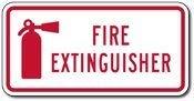 BRILLON - Señal de Metal de Aluminio para extintor de Incendios y símbolos de extintor – 8 x 12 Pulgadas