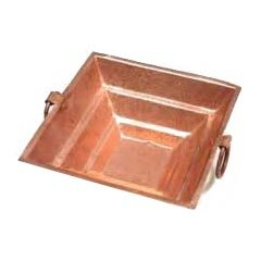 """Copper Havan Kund/ Agnihotra With Stand & Copper Spoon (Hawankund(8""""x8"""")Length-8"""",Width-8"""")"""