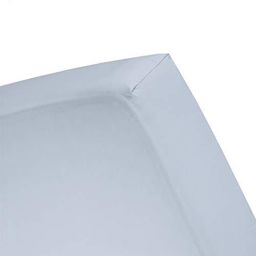 Damai Damai Double Jersey hoeslaken hemelsblauw - 80-90x200/210/220 cm - 100x200 cm 100% katoen