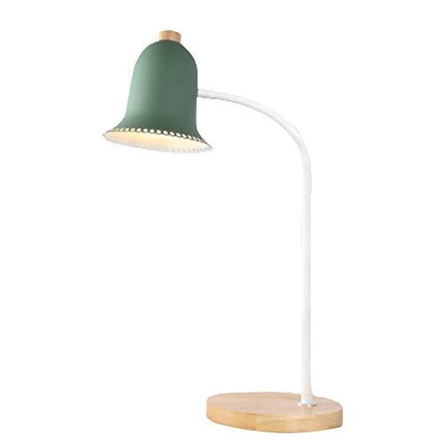 LYUN Lámparas de Mesa Dormitorio cabecera led Codo e27 lámpara de Escritorio Ojo Escritorio tamaño Estudiante niños Aprendizaje Madera Lectura Oficina Lámparas de Escritorio (Color : Green)