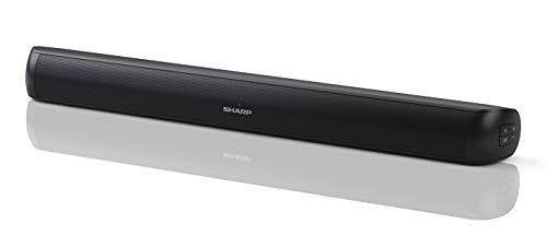 SHARP HT-SB107 2.0 Mini-Bluetooth-Soundbar (mit HDMI ARC/CEC, 90W Gesamtleistung) schwarz