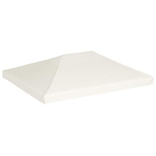 Estink Telo Ricambio per Gazebo 4 x 3 m, Bianco Crema, Copertura per Gazebo, 310 g/m², Impermeabile con Rivestimento in PVC, 16 Chiusure a Strappo