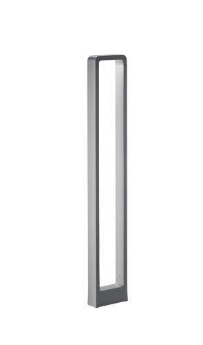 TRIO, Potelets, Reno incl. 1 x LED,COB,5,0 Watt,3000K,330 Lm. Corps: Fonte daluminium, Titane L:16,0cm, L:5,0cm, H:100,0cm IP54