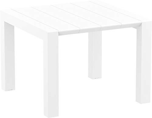 resol Mesa de jardín Exterior Rectangular Extensible Vegas 100x100/140 - Color Blanco
