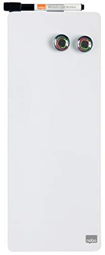 Nobo Tiras Magnéticas Adhesivas Blancas, Sin Marco, Borrado en Seco, Fácil de Limpiar, Aptas Para Uso En...