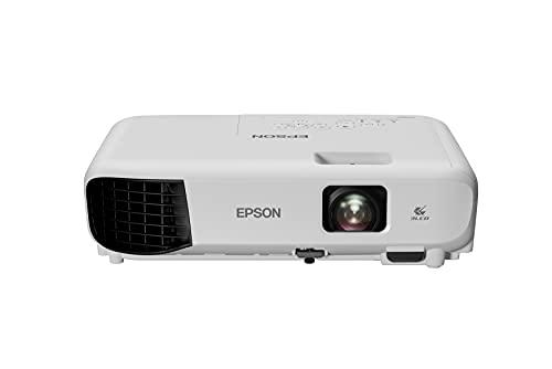 """Epson EB-E10 Videoproiettore XGA, 1024x768, 4:3, 3600 Lumen, Tecnologia 3LCD, Contrasto 15000:1, Interfacce USB/VGA/HDMI, Altoparlante 2W, Telecomando, Proiezione fino 350"""""""