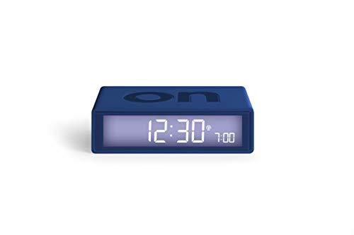 LEXON - FLIP+ Reversible LCD Alarm Clock Radio Controlled - Dark Blue