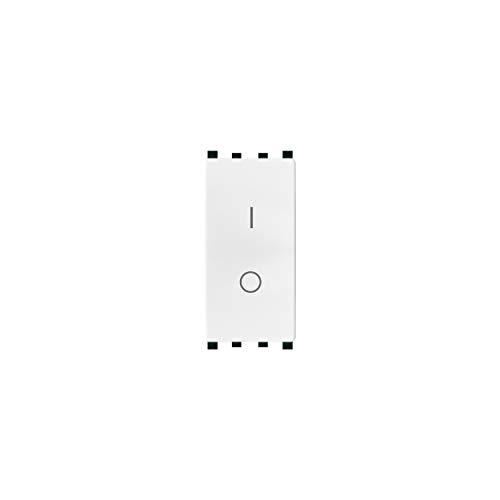 LineteckLED -TOT 602B- Serie Completa Materiale Elettrico Fai da Te- Interruttore Bianco Bipolare 16AX 250Vac Compatibile vimar