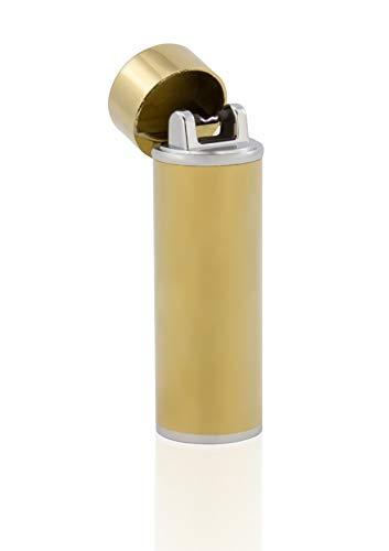TESLA Lighter TESLA Lighter T02 Lichtbogen Feuerzeug, Plasma Single-Arc, elektronisch wiederaufladbar, aufladbar mit Strom per USB, ohne Gas und Benzin, mit Ladekabel, in Edler Geschenkverpackung, Gold Gold