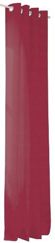 SYMPHONY 1807/5041_433 sjaal met metalen ogen, uni, polyester-club, 135 x 235 cm, bordeaux