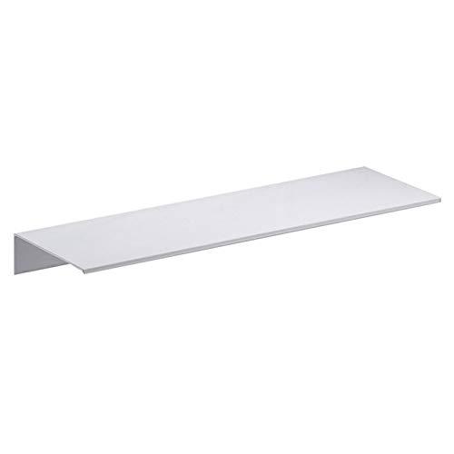 ZUQ Wandregal Metall Duschablage Badezimmer Aluminium Wand Regal Duschregal Schweberegal Dekorative für Schlafzimmer, Küche, Büro, Wohnzimmer Weiß L, 40 cm