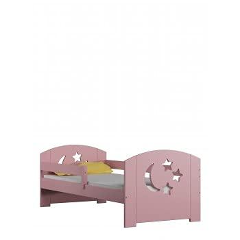 Children's Beds Home - Cama individual - Lily For Kids Child Junior - Cama individual - Lily - 140x70, rosa, sí, colchón de espuma de 10 cm / fibra de coco