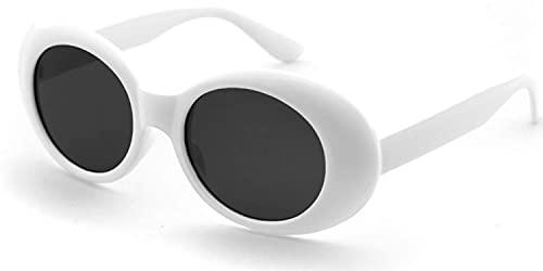 occhiali da donna bianchi JFAN Ovale Occhiali Da Sole Donna Uomo Vintage Cornice Protezione UV400 Occhiali Moda Stretti Sunglasses