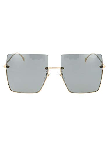 FENDI Moda De Lujo Mujer FF0401SJ5GIR Oro Metal Gafas De Sol | Temporada Permanente