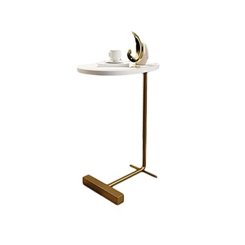 Mesita de Noche Mesa de Esquina de Lujo Ligera Moderna, Simple Sala de Estar Sofá Mesa Solar, Decoración para el hogar Mesa Final de té, Easy Montaje Mesa de Esquina de Mesa Lateral (Color : B)