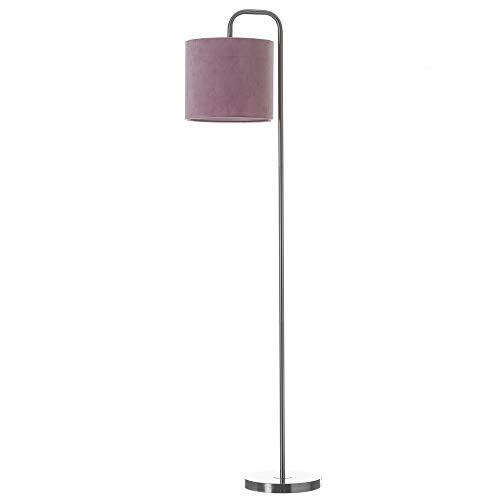 Lámpara de pie de metal rosa moderna para salón France - LOLAhome