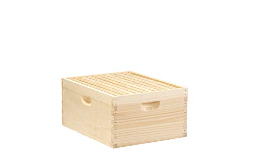 Little Giant 10-Frame Deep Hive Body Beehive Body with Frames for...