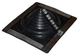 #1 Rectangle Black Retrofit Pipe Flashing 1/8-4 1/2