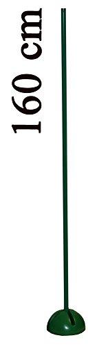 Boje Sport - Agility sport canin pour l'entraînement de la coordination, l'entraînement de l'endurance, le sprint de votre chien, le slalom - Support en X avec poteau 160 cm (2 x 80 cm avec prise), couleur: vert