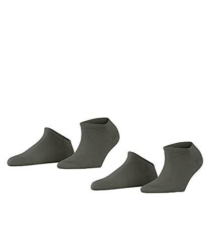 ESPRIT Damen Uni 2-Pack W SN Hausschuh-Socken, Grün (Thyme 7821), 35-38 (2er Pack)