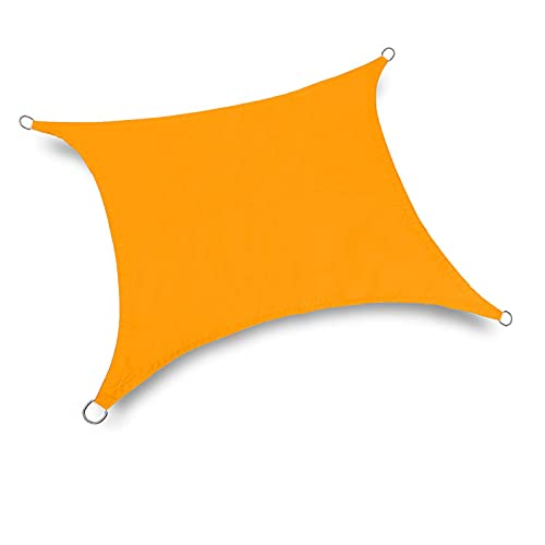 Toldo Vela de Sombra Rectangular, Vela de Sombra, Protección 95% UV y Transpirable HDPE Impermeable, para Patio Exteriores Jardín,A,2X5m