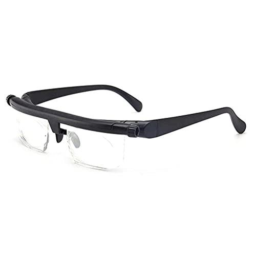 Tablecloth Gafas de lectura de enfoque ajustable se pueden ajustar de -6d a +3D de miopía gafas de lectura para hombres y mujeres para leer