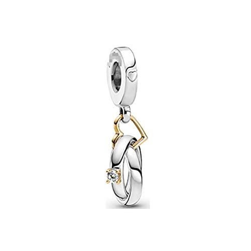 LISHOU DIY S925 Paleta De Plata Esterlina Gato Y Perro Pet Firefly Colgante Fit Original Pandora Pulseras Collar para Mujeres Charm Beads Fabricación De Joyas D6